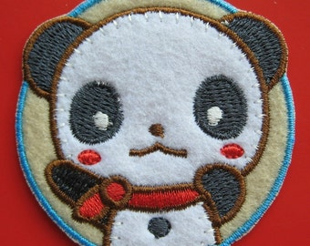 Iron-on embroidered Patch lovely Panda 2.1 inch
