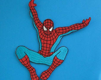 Clearance~ 2 pcs Iron-on Embroidered Patch Spiderman 4.9 inch