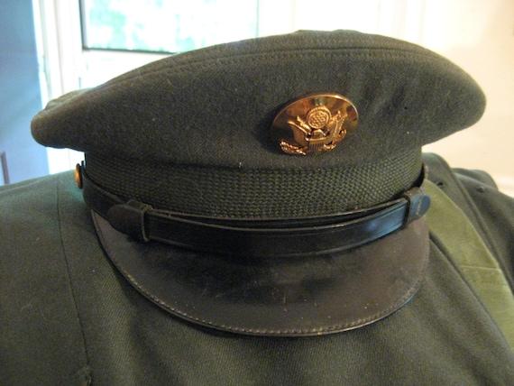 US Army Dress Visor HA...U.s. Army Uniform Hat