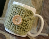 Coffee Cozy in Light Sage Green, Tea Cozy, Coffee Accessories, Coffee Gift, Hostess Gift, Coffee Lovers Gift, Teachers Gift, Coffee Cup Cozy