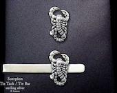Scorpion Tie Tack or Scorpion Tie Bar / Tie Clip Sterling Silver