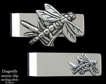 Dragonfly Money Clip Sterling Silver