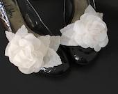 Rose Flower Shoe Clips Custom Hand Made Floral Embellishments