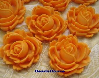 20% off 416-03-CA  12pcs Pretty Roses Cabochon - Deep Yellow