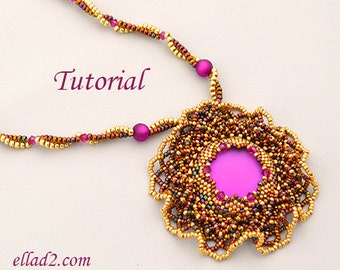 Tutorial Sunset Magic Necklace - Beading Pattern PDF
