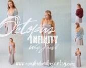 By the Sea~Bridal Infinity Wrap Shawl, Stole, Bolero- Lace or Chiffon