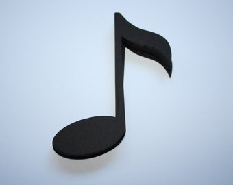 18 x Music Note Die Cuts - Black