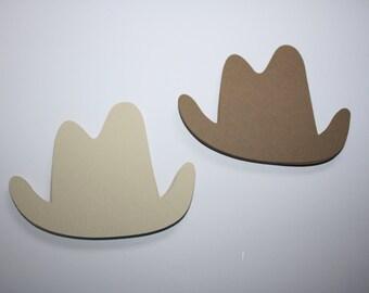 18 x Cowboy Hat Die Cuts