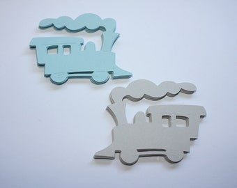 18 x Train Die Cuts - Choose your own Colors!