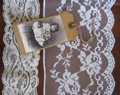 Vintage Lace Lot 15 Yards, White and Cream ... 10 Yds White Wide,  5 Yds of 2.5 Inch Cream