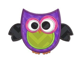 Halloween Buddies - Owl Applique Machine Embroidery Design