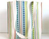 Stripe Tote Bag -  Stripe Book Bag - Stripe Purse - Medium Tote Bag