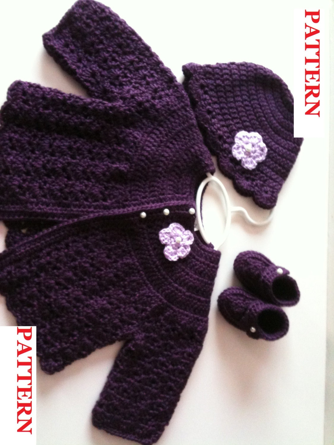 Crochet Pattern: Baby Swing Style Sweater Set GC 105