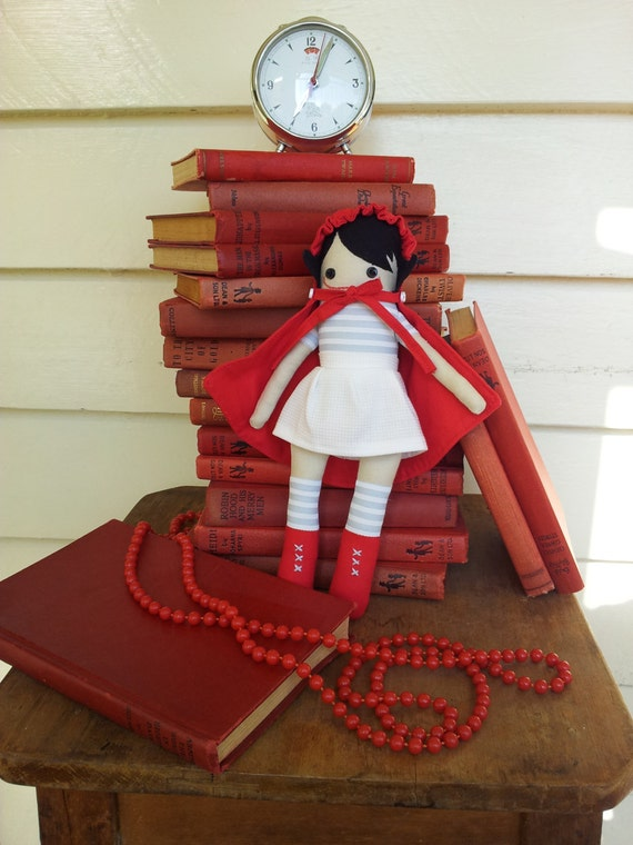 Little Red - Handmade Limited Edition Doll with Cape