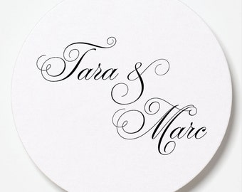 Tara Collection Foil Letterpressed Coasters - Set of 50 - for Weddings, Holidays, Parties and More by Abigail Christine Design