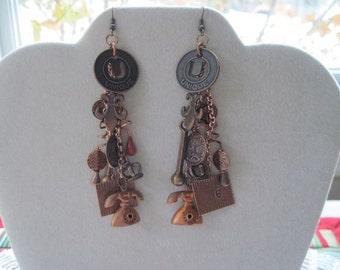 Unique Steampunk Industrial Earrings