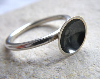 Large Curious Crater Ring by hybrid handmade, Cari-Jane Hakes from the Essential Simplicity Series
