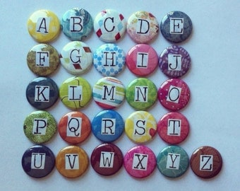 Alphabet Magnet Set 1-inch magnets