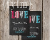 GLITTER- bling bling VALENTINE Printable CARDS - personalize with name of your choice
