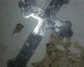 sterling silver nun cross