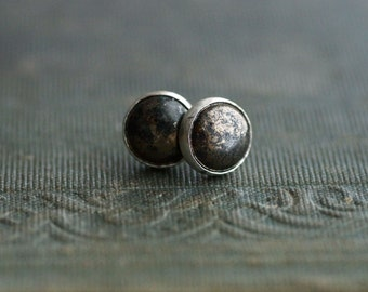 Pyrite on Sterling Silver Studs / Posts