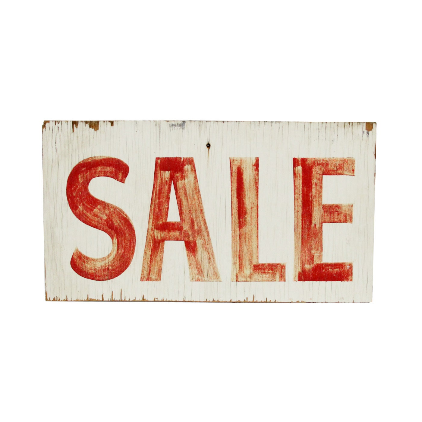 vintage hand-painted wooden SALE sign