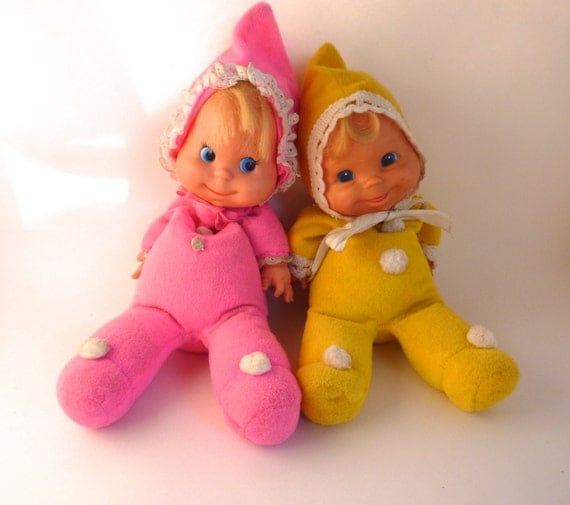 Baby Beans Doll Pair 1970s