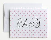 Baby Congratulations Card - Pink Dots