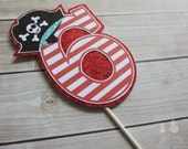 Pirate Boy or Girl Party Custom Cake Topper - Ahoy Matey Collection from Tea Party Designs - TeaPartyDesigns