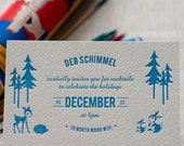Forest Friends - Holiday Celebration Invitation (min. 50 qty)