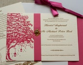 Harriet & Michael - Oak and Fireflies Wedding Invitation (min. 50 qty)