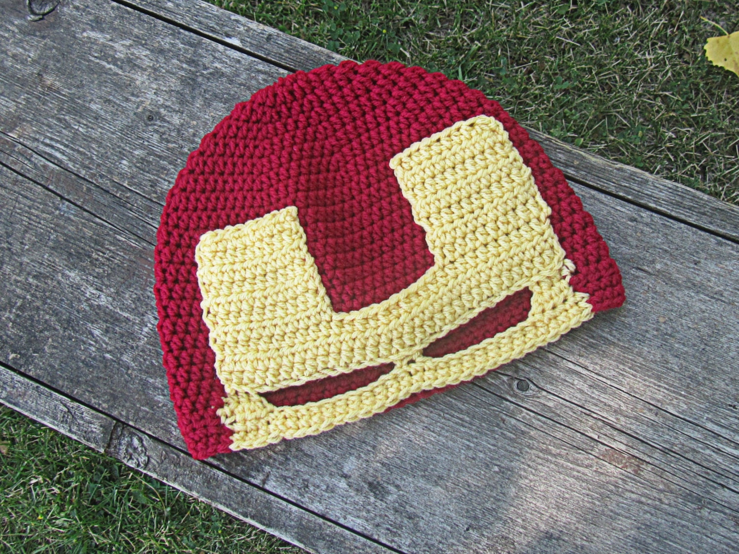 Free Crochet Pattern Iron Man Hat : Unavailable Listing on Etsy
