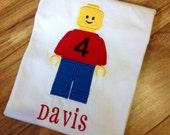 Boys Personalized LEGO (R) Birthday Shirt
