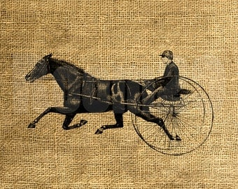 INSTANT DOWNLOAD - Horse and Buggy Vintage Illustration - Download and Print - Image Transfer - Digital Sheet by Room29 - Sheet no. 1118