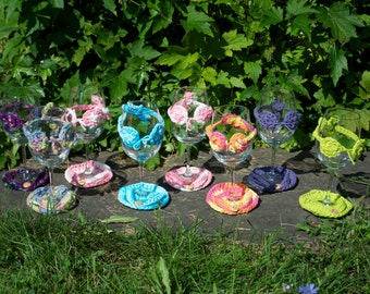 Sass for Your Glass Wine Glass Bikini Charm  and Flip Flop Coaster (set of 2)