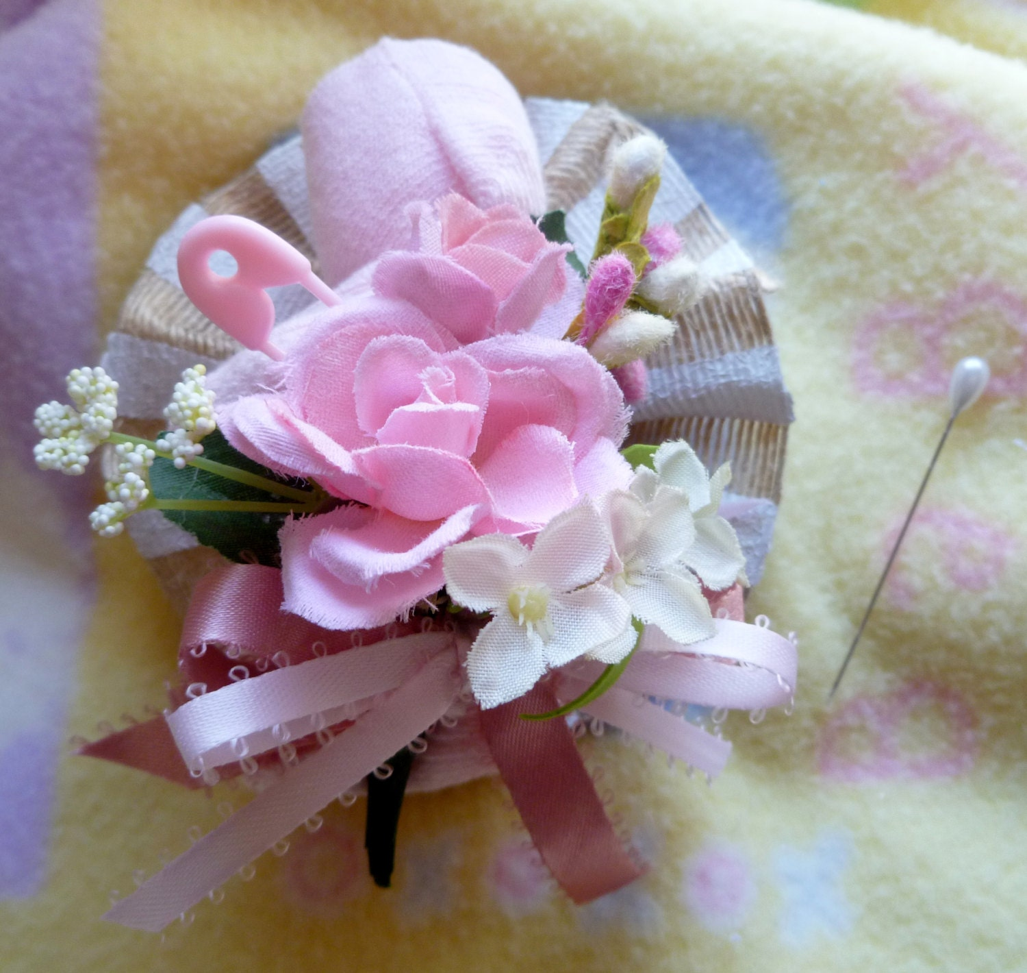 mom to be baby shower corsage sock by mollbelldesigns