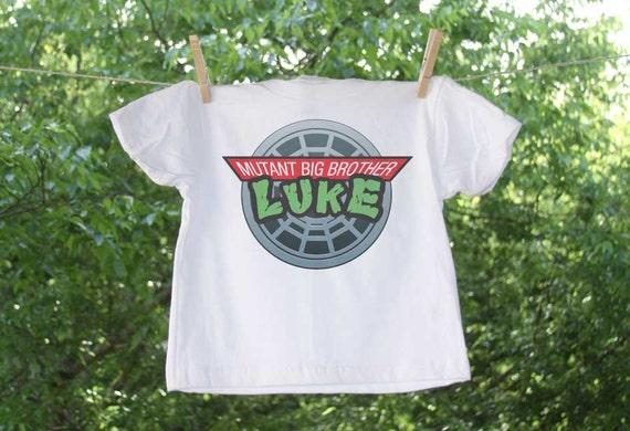 Big brother mutant ninja turtles inspired shirt personalized for Where can i buy ninja turtle shirts