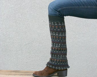 CUSTOM FAVORITE SWEATER Upcycled Recycled Leg Warmers Made to Order Fall Winter Fashion
