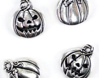 Silver Plated TierraCast Jack O Lantern Charms