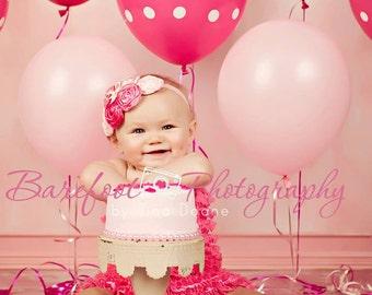 Pink Headband, Pink Fabric Headband, Baby Headband, Christening Headband, Baptism Headband, Birthday Headband