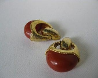 Vintage Pauline Rader Exclusive Antique Style Clip Earrings