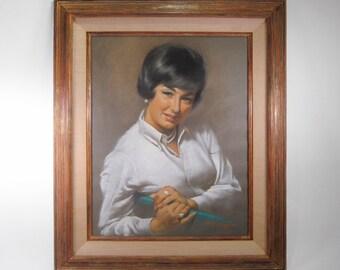 Arthur Sarnoff PORTRAIT pin up artist ORIGINAL Pastel
