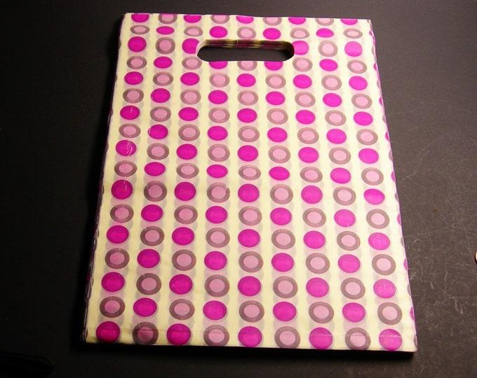"100 - Plastic bags- Handles bags - retail bags - wholesale bags - 8""x 12"" - LDPD54"