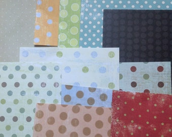 Paper Pack-Lots of Polka Dots-Scrapbook Paper-37-6 x 6