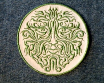 Greenman 2 Iron on Patch