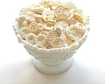Edible Vintage Vanilla Candy Buttons 65 as pictured, plus more styles -by Andie's Specialty Sweets
