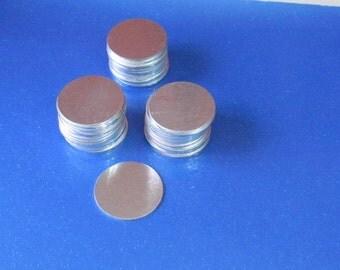 "1"" Aluminum blanks -  24 gauge  - Hand stamping blanks//metal blanks//stamping supplies//round blanks//silver blanks"