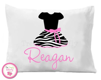 Zebra Dress Pillow Case , Hot Pink Zebra Personalized Pillow Case