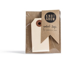 Manila Parcel Gift Tags / Set of 10