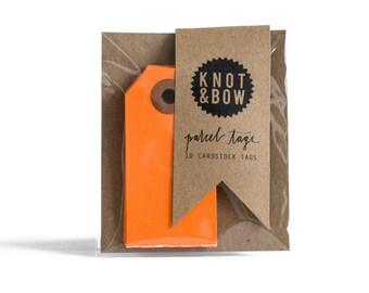 Orange Parcel Gift Tags / Set of 10